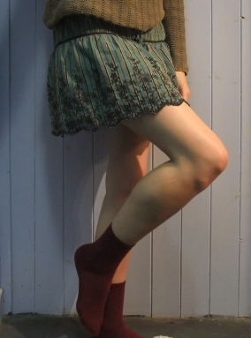 maroon socks - Primark