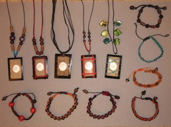 hand made necklaces and bracelets